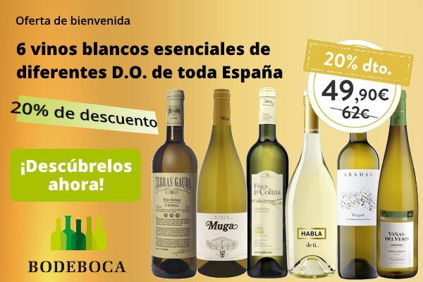 Bodeboca - 6 vinos blancos esenciales con 20% descuento